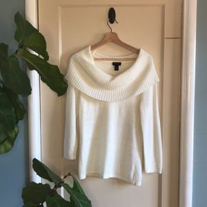 Spense angora-blend cowl neck sweater